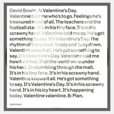 David Bowie - The Valentine's Day official video