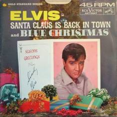 Elvis Presley - Blue Christmas and Santa Claus Is Back In Town single