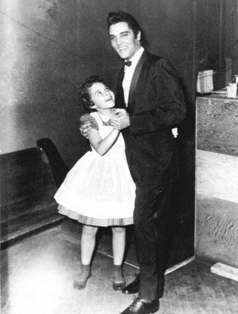 Brenda Lee with Elvis Presley, backstage at the Grand Ole Opry