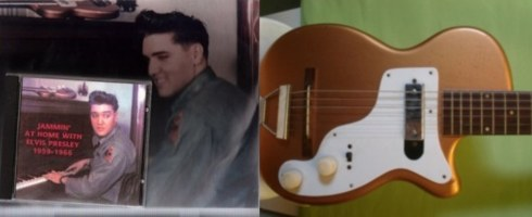 Elvis Presley auction - golden guitar