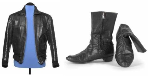 George Harrison leather jacket and boots
