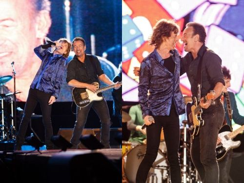 Bruce Springsteen and Mick Jagger at Rock in Rio festival