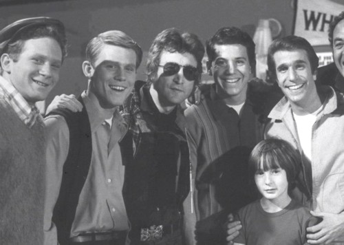 John Lennon on Happy Days set