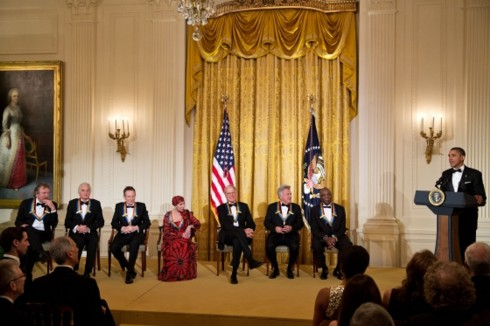 President Obama and the Kennedy Center Honors recipients (Official White House Photo by Pete Souza)