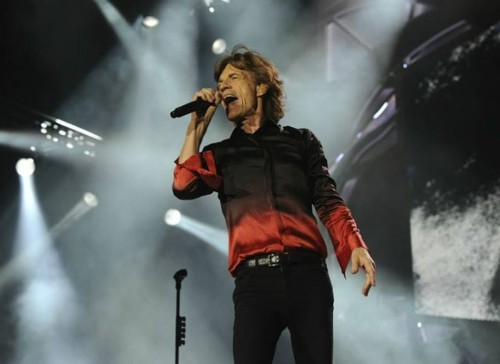 Mick Jagger on stage in Rome, 2014