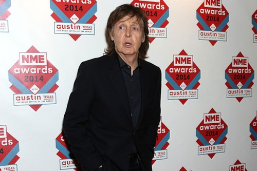 Paul McCartney NME Songwriters' Songwriter award