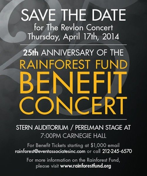 Rainforest Fund 25th Anniversary Benefit Concert