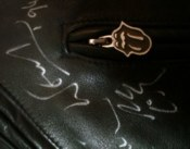 Rolling Stones - signed black leather jacket