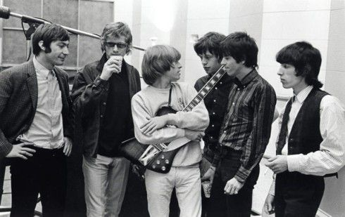 The Stones with Andrew Loog Oldham at RCA Studios, Hollywood