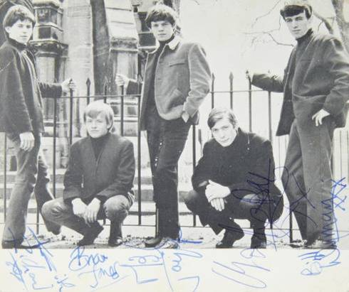 Rolling Stones autographed 1963 photo