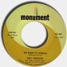 Roy Orbison Oh, Pretty Woman single